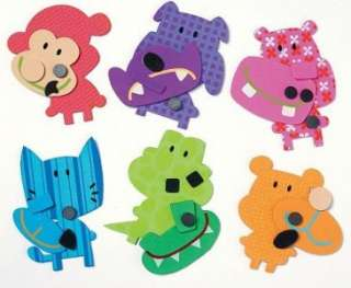 Fun Animal Critter Club Foam Magnet kits No Glue Needed