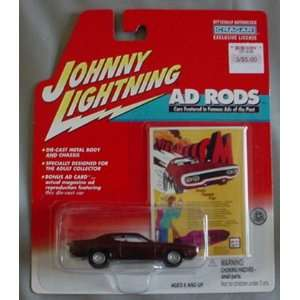 Lightning Ad Rods 1971 Plymouth Road Runner MAROON Toys & Games
