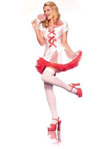 Sexy Nurse Candy Striper Lollipop Girl Costume BW845 ML