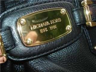 New Michael Kors GANSEVOORT Tote Bag BLACK LEATHER NWT $498.00