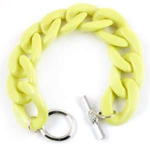 Neons The Word Chain Link Bracelet (Yellow) Jewelry