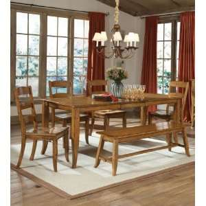 Old Farm Rectangular Leg Dining Table by Intercon   Distressed Almond