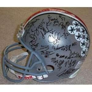 2011 OHIO STATE BUCKEYES Team Signed F/S HELMET w/COA   Autographed