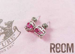 Juicy Couture Heart Banner Stud Earring hotpink