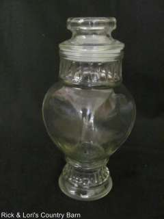VINTAGE GLASS CANDY SNACK COOKIE JUICE JAR DECANTER