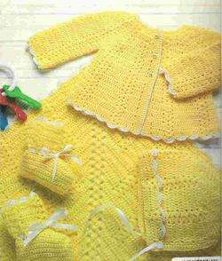 BABY LAYETTES ~ KNIT & CROCHET ~ NEW ITEM