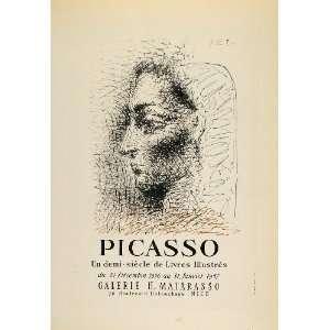1959 Lithograph Picasso Livres Illustres Female Head