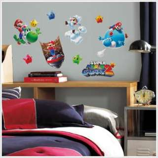 SUPER MARIO GALAXY 2  WALL DECALS Kids Room Decorations Stickers
