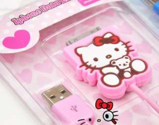 New Hello Kitty USB Data Sync Charger Cable 4 iPod iPhone 3G/4G/5G