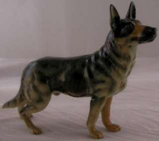 VINTAGE GOEBEL GERMAN PORCELAIN FIGURINE DOG GERMAN SHEPHERD ALSATION