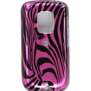 SnapOn Phone Cover for Sprint HTC Hero Hot Pink Zebra