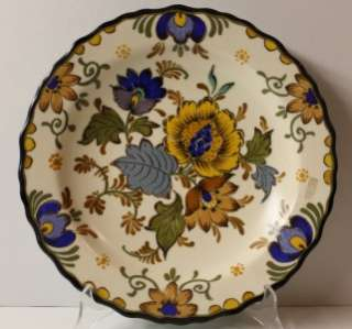 Vintage superb Gouda Holland Hand Painted Wall Plate Dish1950s