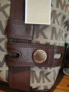 NEW MICHAEL KORS $348 HARNESS TOTE GRAB BAG PURSE LEATHER KHAKI