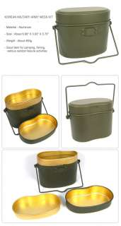 KOREA ARMY MILITARY CANTEEN MESS KIT CAMPING OUTDOOR **