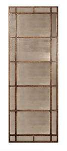 Narrow Gold Metal Long Wall/Mantle Mirror 28 1/2x79 3/8