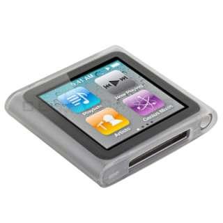 Clear TPU Gel Case Cover for Apple iPod Nano 6 6th Gen