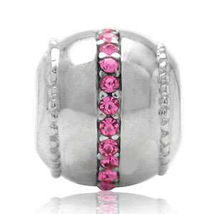 AUTH Nagara Crystal 925 Sterling Silver European Charm Bead
