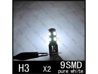 H3 Fog 9 SMD LED Xenon White Head Light Bulb Lamp 12V