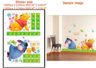 DISNEY WINNIE POOH & TIGER Wall Mural Decal Sticker