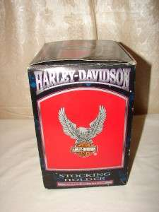1999 Christmas Harley Davidson Eagle Stocking Holder NIB