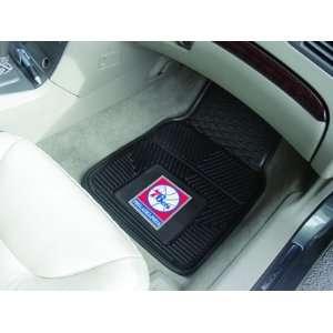 NBA Philadelphia 76ers 2 Piece Heavy Duty Vinyl Floor Car Mat Set with