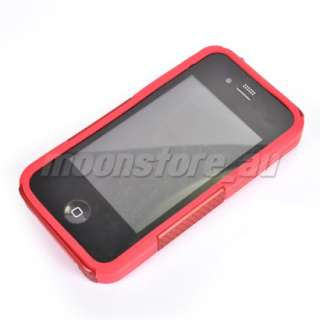 HARD MESH SILICONE CASE COVER APPLE IPHONE 4 4G RED