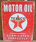 texaco motor oil gas service station pump car garage mechanic