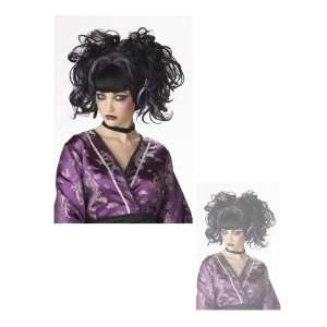 Punk Gothic Japanese Doll Halloween Costume Wig Black And