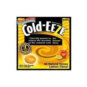 Cold Eeze Cough Suppressant Drops Box with Honey Lemon Flavor   18