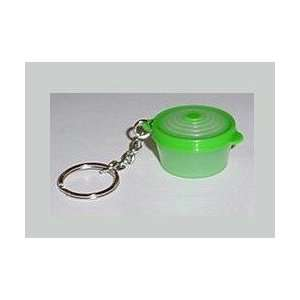 Tupperware Stuffables Container Keychain (Green) Pill
