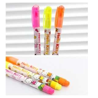 Hello Kitty 3 Color Highlighter Pen Set 3pc Set