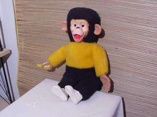 Vintage Rubber Face Monkey Banana Zippy Zip Mr. Bim