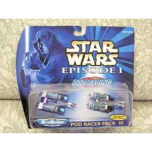 Star Wars Episode I MicroMachines Pod Racer Pack 3 Toys