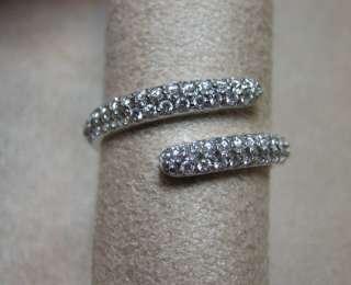 Hidalgo 18K White Gold Pave Diamond Swirl Ring