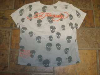 LITTLE BOYS ED HARDY LOGO T SHIRT SHORT SLEEVED MEDIUM 6 7 8