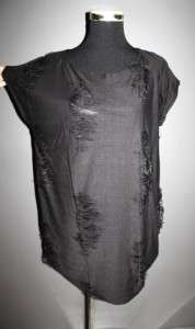 Garcons comme le fashion Distressed edge raw des top bk