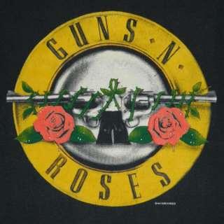 1987 GUNS N ROSES WAS HERE VTG T SHIRT TOUR 80S XL APPETITE FOR