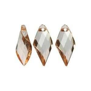Cousin Jewelry Basics Acrylic Beads peach Spike 24/pkg 3