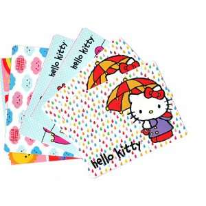 Set of 6 Hello Kitty Blank Note Cards with 6 White