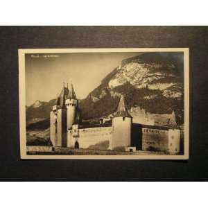1952 Le Chateau, Aigle Switzerland RPPC Helvetia stamps not