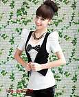 Sweet Japan fashion punk Rock gothic Lolita BOW Vest top Blouse Shirt