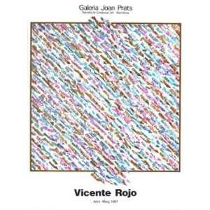 Vicente Rojo   Galeria Joan Prats 1987 Limited Edition