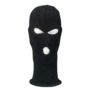 BLACK Full Face Military Style Winter SKI MASK USA Made