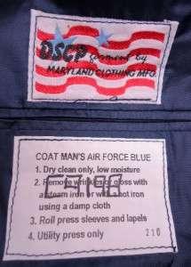 Size 40 Extra Long US Air Force Mens Enlisted Dress Blue Uniform