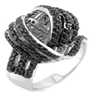 Black Beauty Fancy Ring, Crafted with High Quality Cubic Zirconia