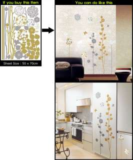 MODERN FLOWER Art Deco Mural WALL PAPER STICKER #067