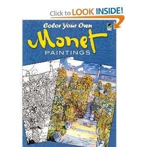 Monet Paintings (Dover Art Coloring Book) [Paperback] Claude Monet