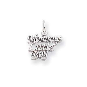 14k Gold White Gold Polished Mommys Little Boy Charm Jewelry