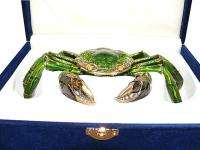 New Swarovski Crystal Crab Bejeweled Trinket Box