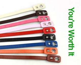 Fashion Cute Leather Skinny Pin Buckle Thin Waist Belt Xmas GIFT 10